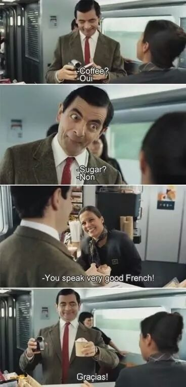 Mr. Bean speaking French - meme