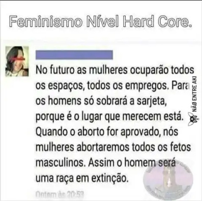 logica feminista - meme