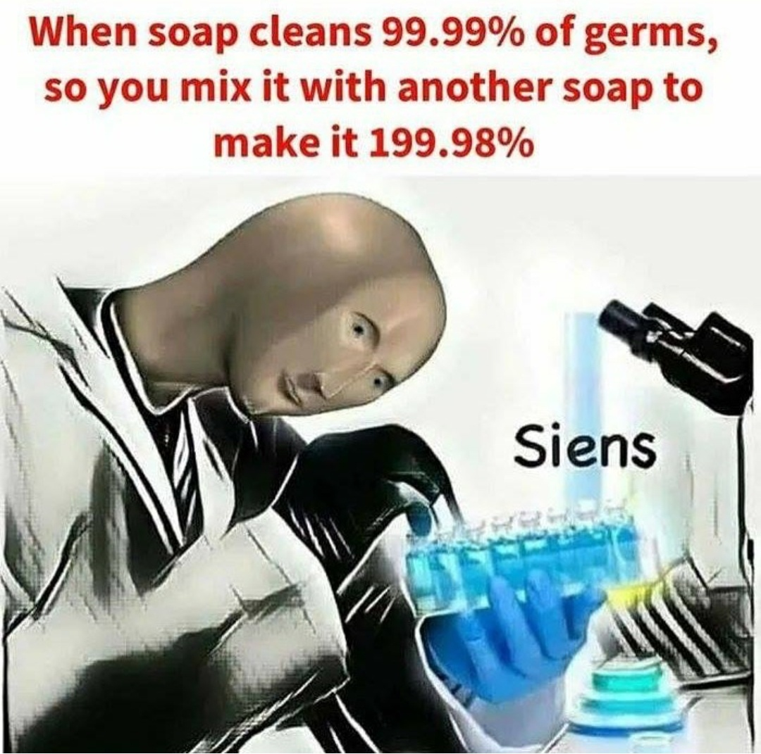 Wash your dirty hands - meme