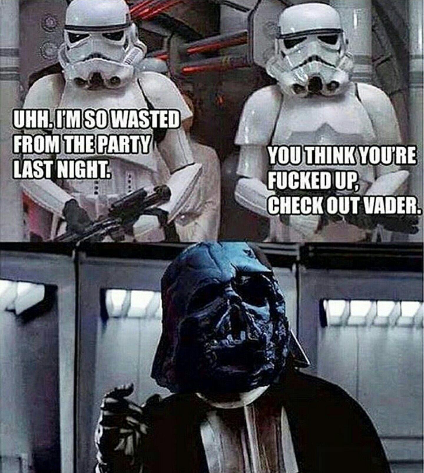 Drunk Vader - meme