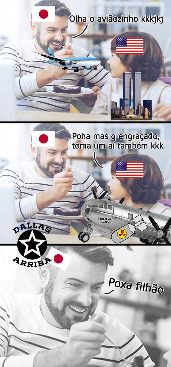 Avião que atacou Hiroshima - meme
