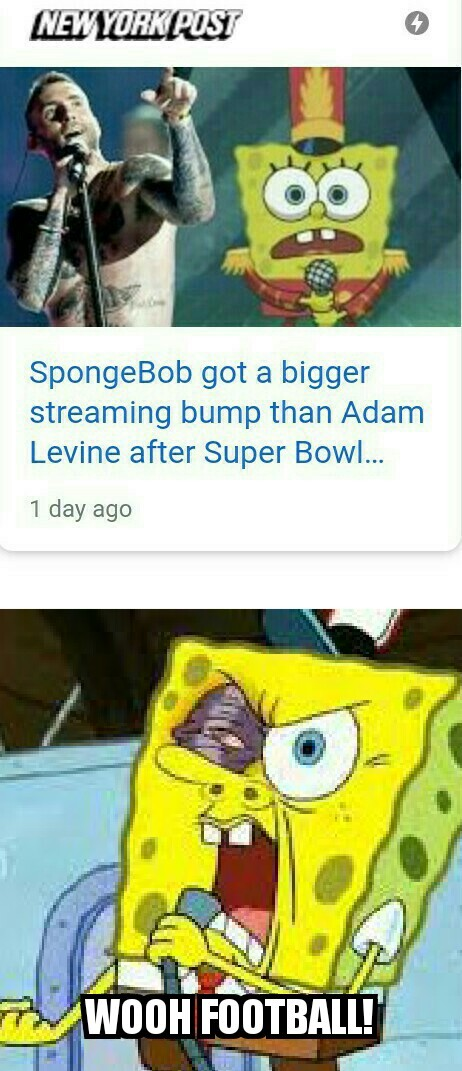 Is pay to see a full version of the bubble bowl song for the halftime show instead of the crappy singers they have. - meme