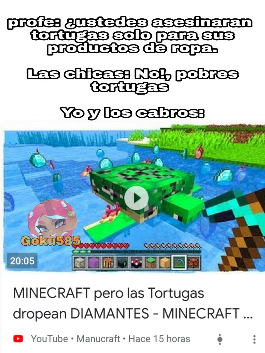 A por esas tortugas   - meme