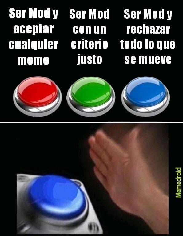 Mod pulsad el botón rojo plis - meme