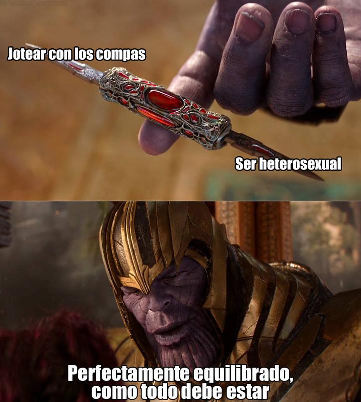 Verdaderamente equilibrado - meme