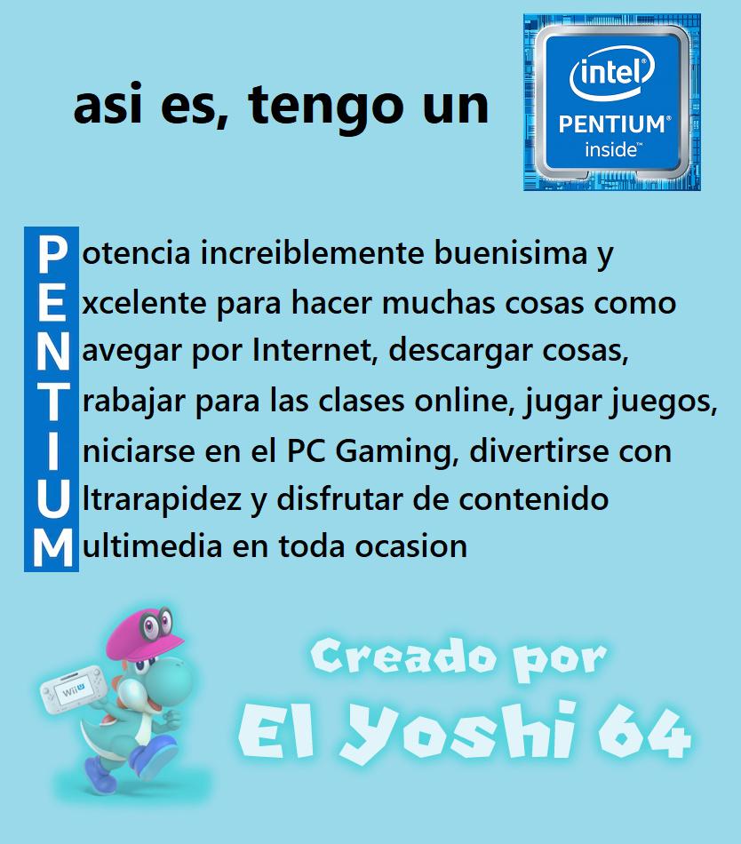 Mi primer meme del Pentium
