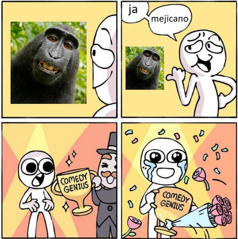 Genio de la Comedia - meme