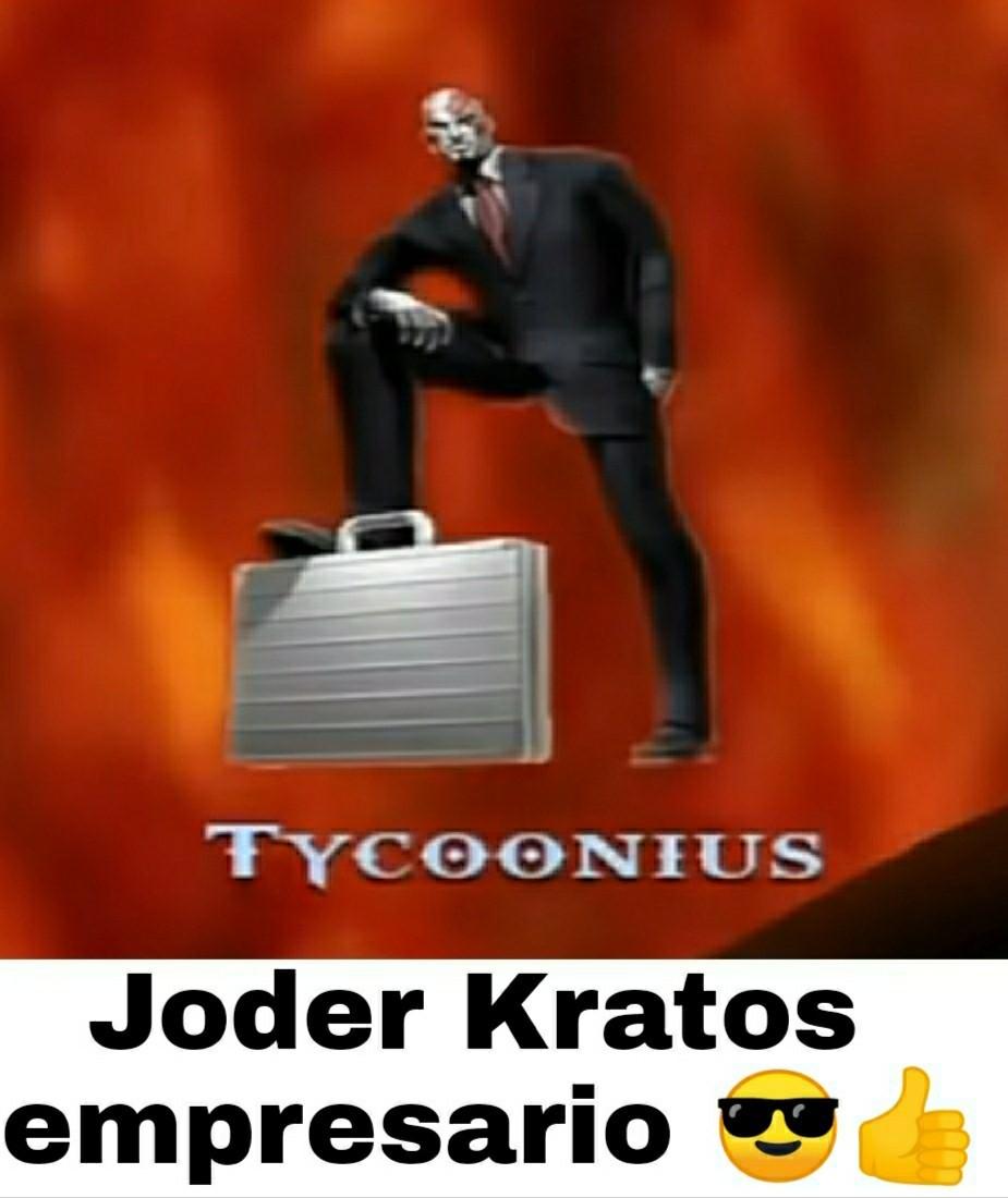 Kratos empresario  - meme