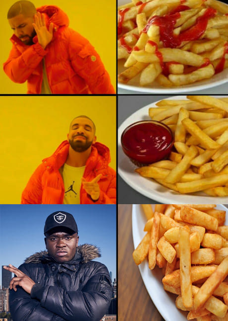 Ketchup for french fries? - meme