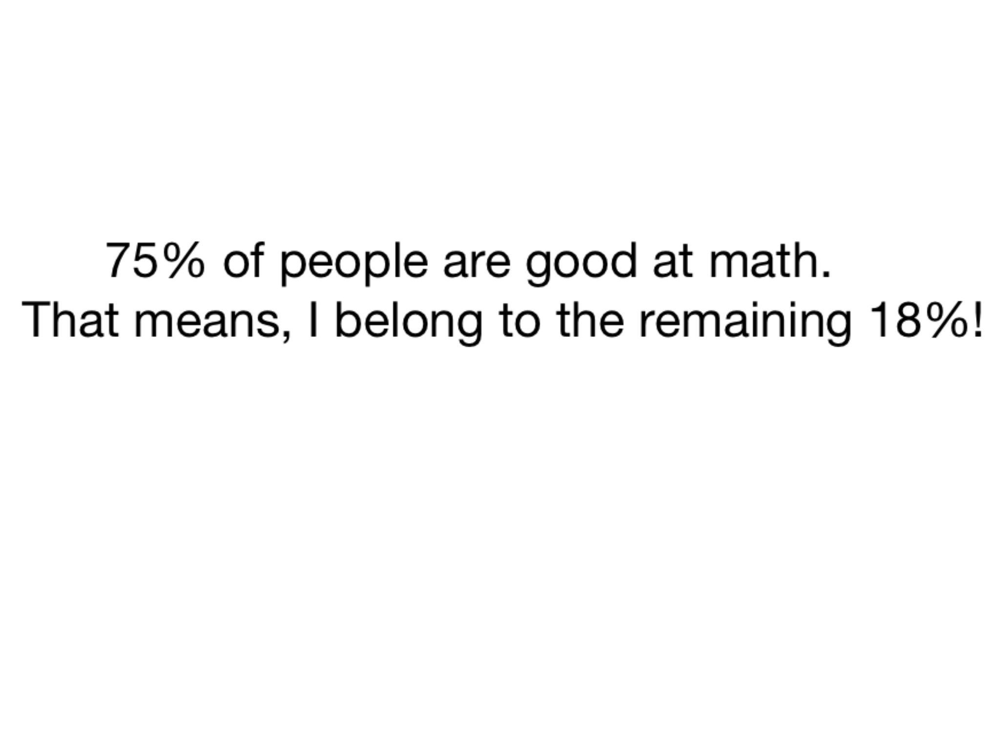 Math skills - meme