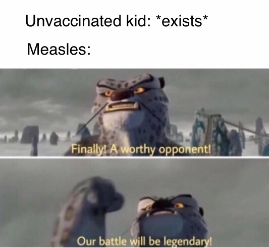 Vaccination battle - meme