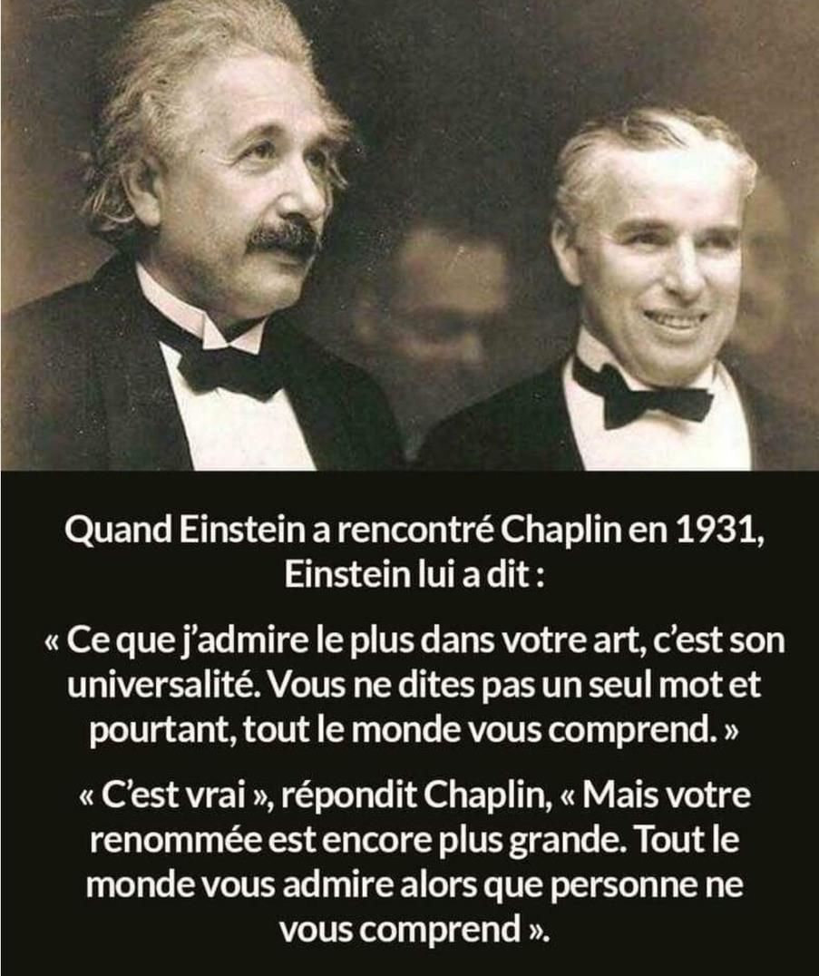 Einstein et chaplin - meme