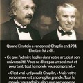 Einstein et chaplin