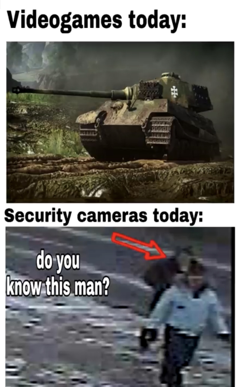 them security camera companies need to up their game. just put sapphire in the camera - meme