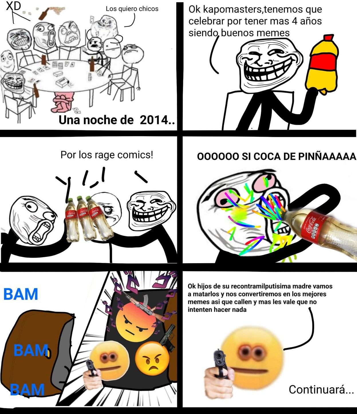Emojis vs rage comics;la batalla capitulo 1 - meme