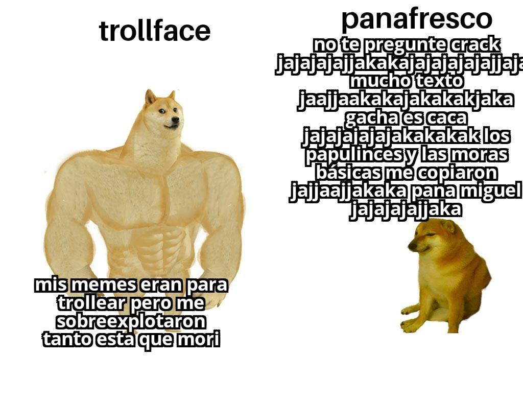 Trollface va panafresco - meme