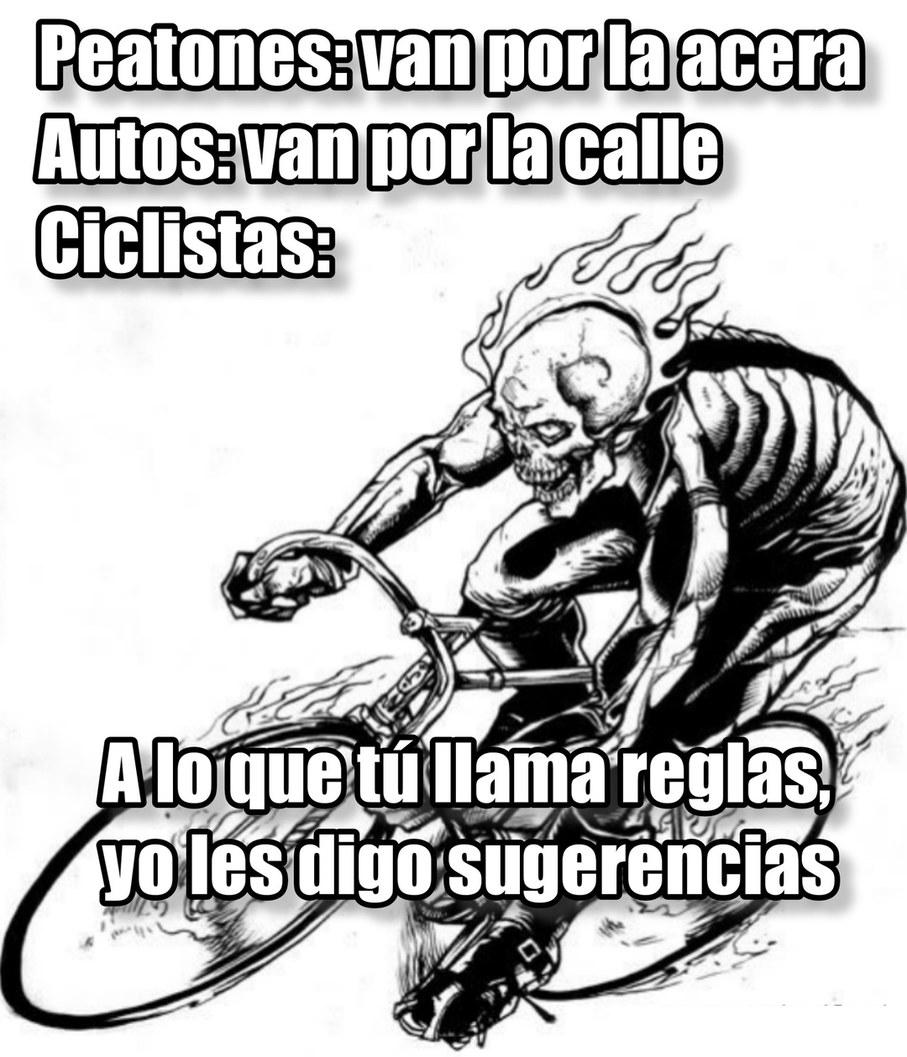 Ciclistas, se creen dioses :ok: - meme
