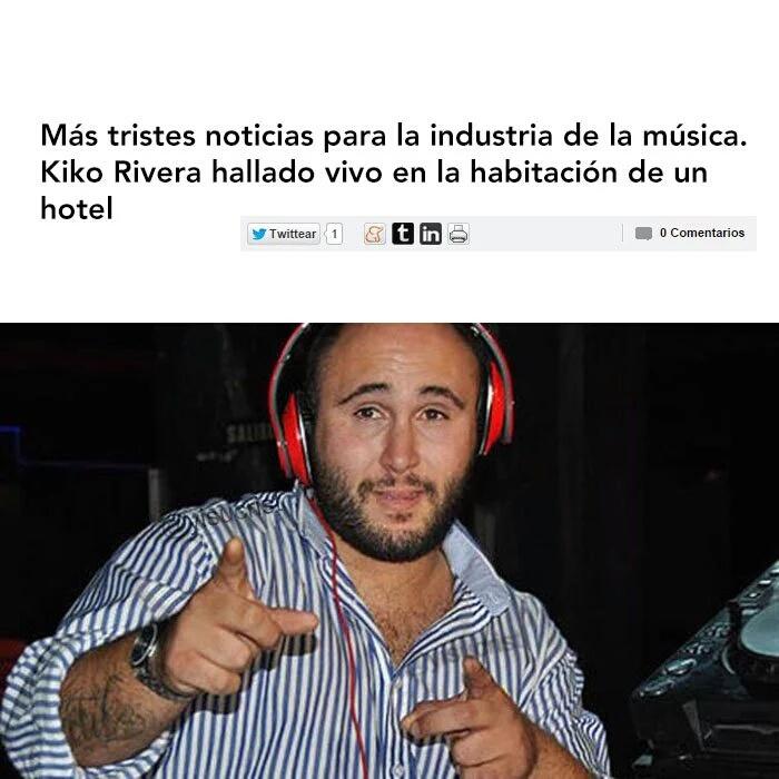 Siguen las malas noticias en el mundo de la musica. - meme