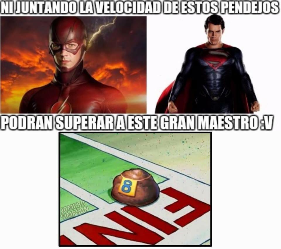 NI FLASH NI SUPERMAN LE GANAN A LA TOCA - meme