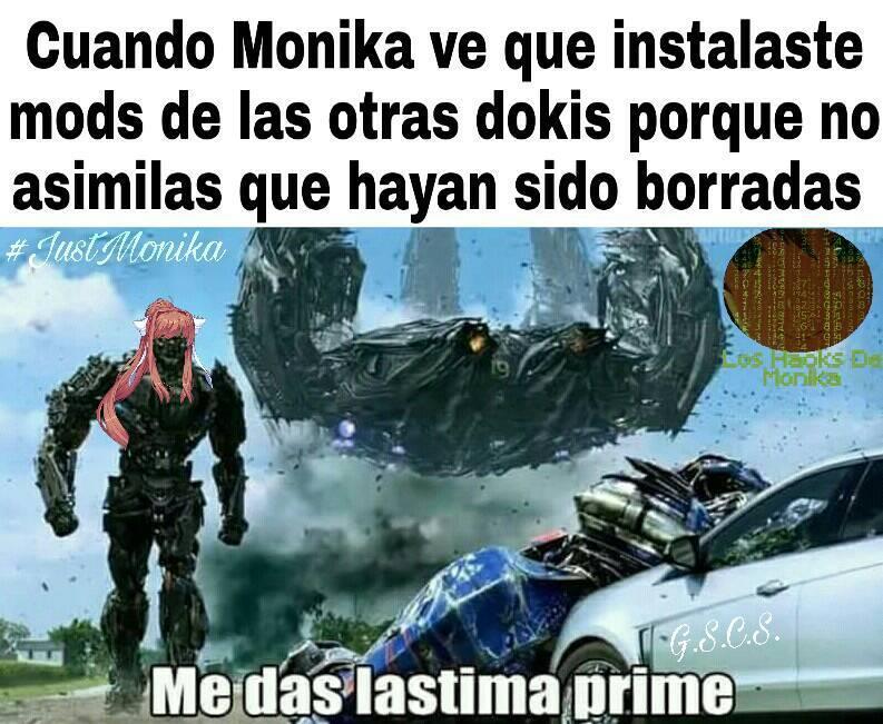 Meme original de Los Hacks de Monika