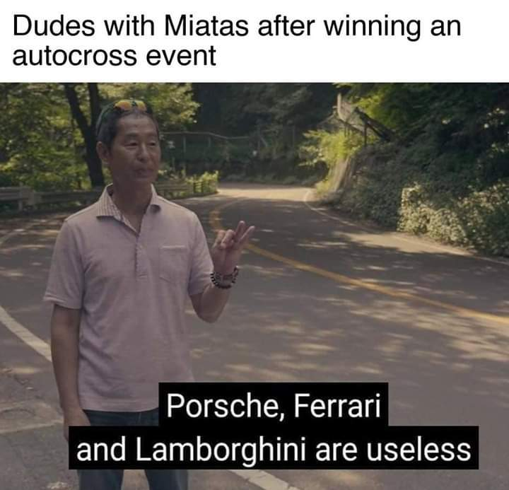 Miatas are trash - meme
