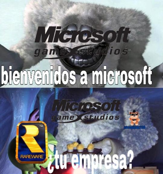 P*to Microsoft - meme