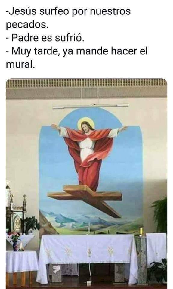 Ay diosito santo bajamela del cielo - meme