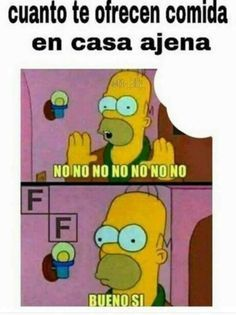 Homer con la comida - meme