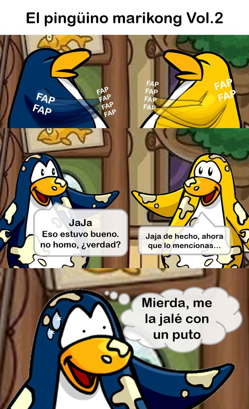 El Pingüino mariKong parte 2 - meme