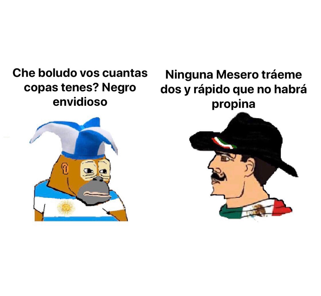 Mexicanos vs Argentinos Meme Chad