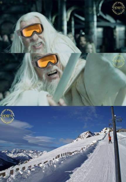 Gandalf remonte la montagne - meme