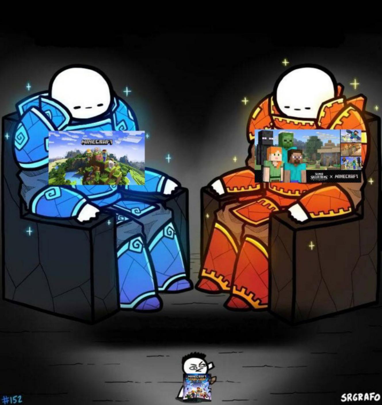 Irónicamente Minecraft tiene más relevancia que story mode - meme