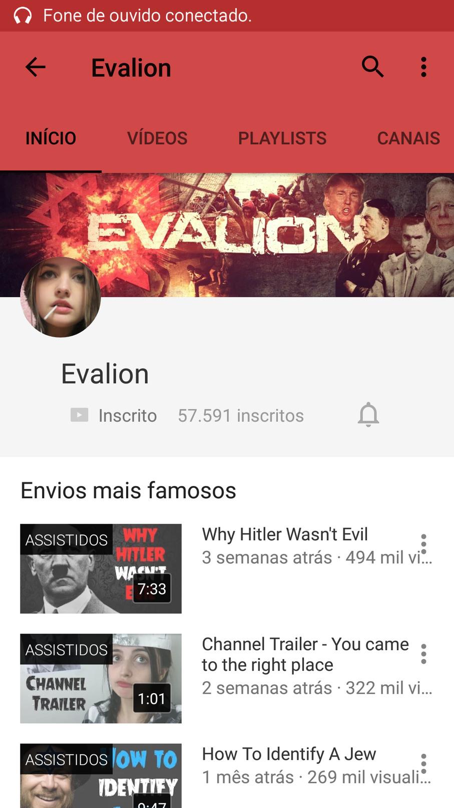 Quando voce acha que o youtube nao pode piorar(pra quem nao sabe ingles aqui vai um resumo:ela é nazista e acha que HITLER e bomzinho) - meme