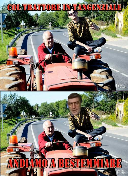 Mosconi col trattore cito dolani dolani e simoooo - meme
