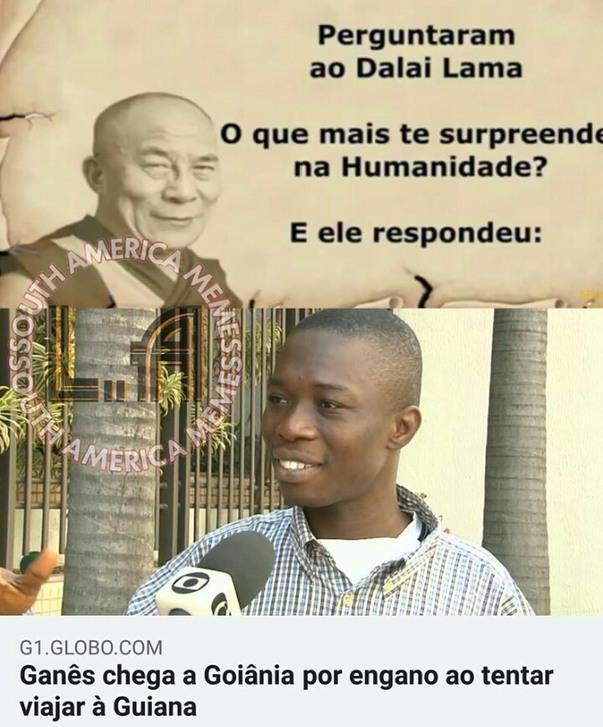 O titulo foi pra Guiana - meme