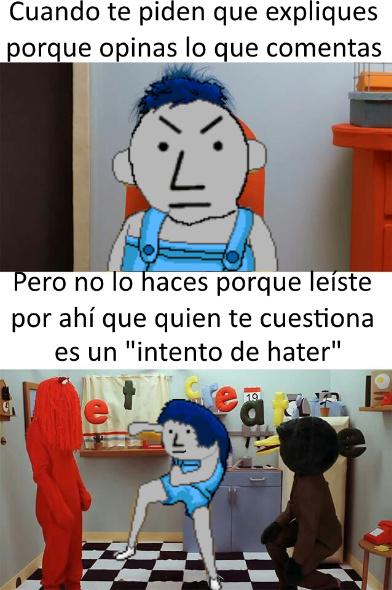 """niños, entiendan que """"intento de hater"""" no tiene sentido - meme"""
