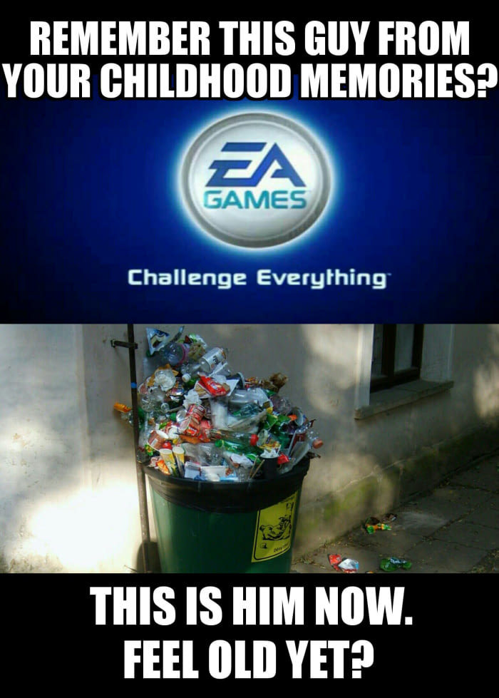 """It's in the trash."" - meme"