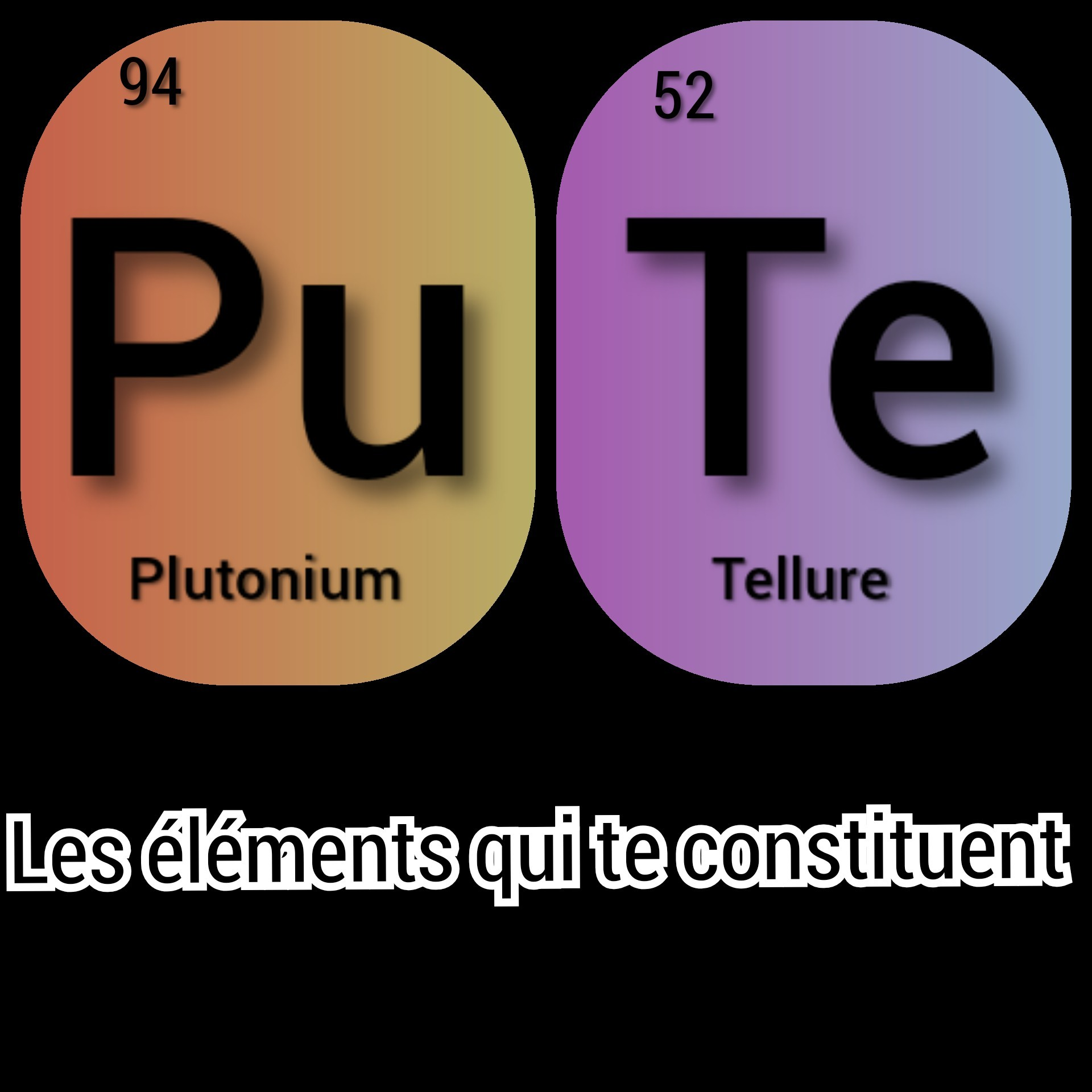 Tellure de plutonium - meme