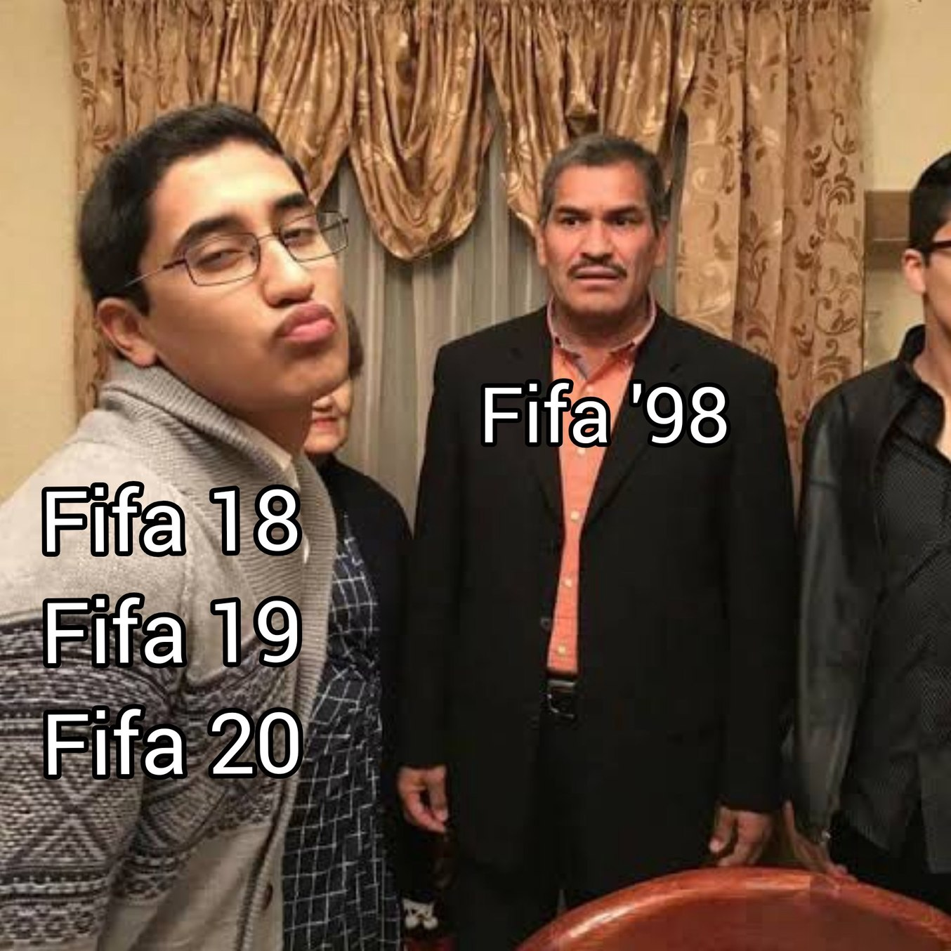 Anyone who bought fifa past fifa 17(first to use frostbite engine) is a chump - meme