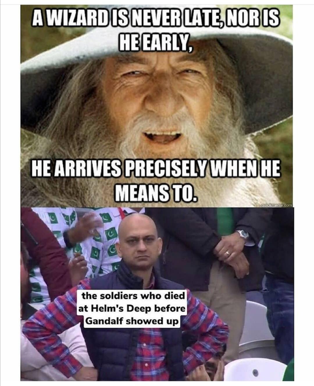 Gandelf the troll - meme