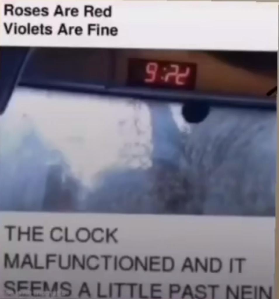 Your clock is on the fritz! - meme