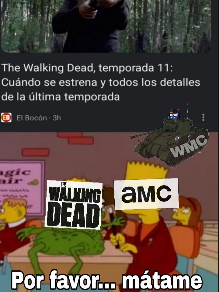 Pobre The Walking dead - meme