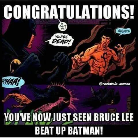 So are your parents, Bruce. - meme