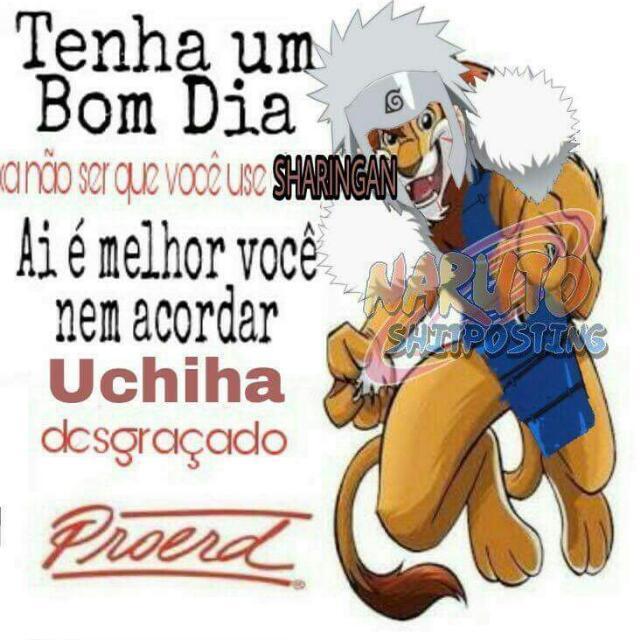 Uchiha nem é gente - meme