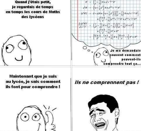 Les maths au lycée - meme