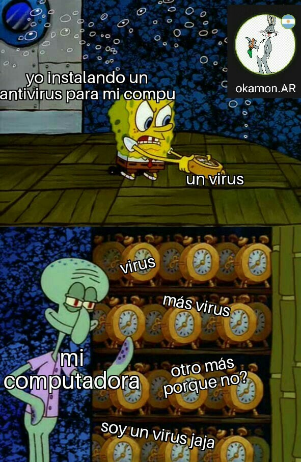 Llenisima de virus - meme