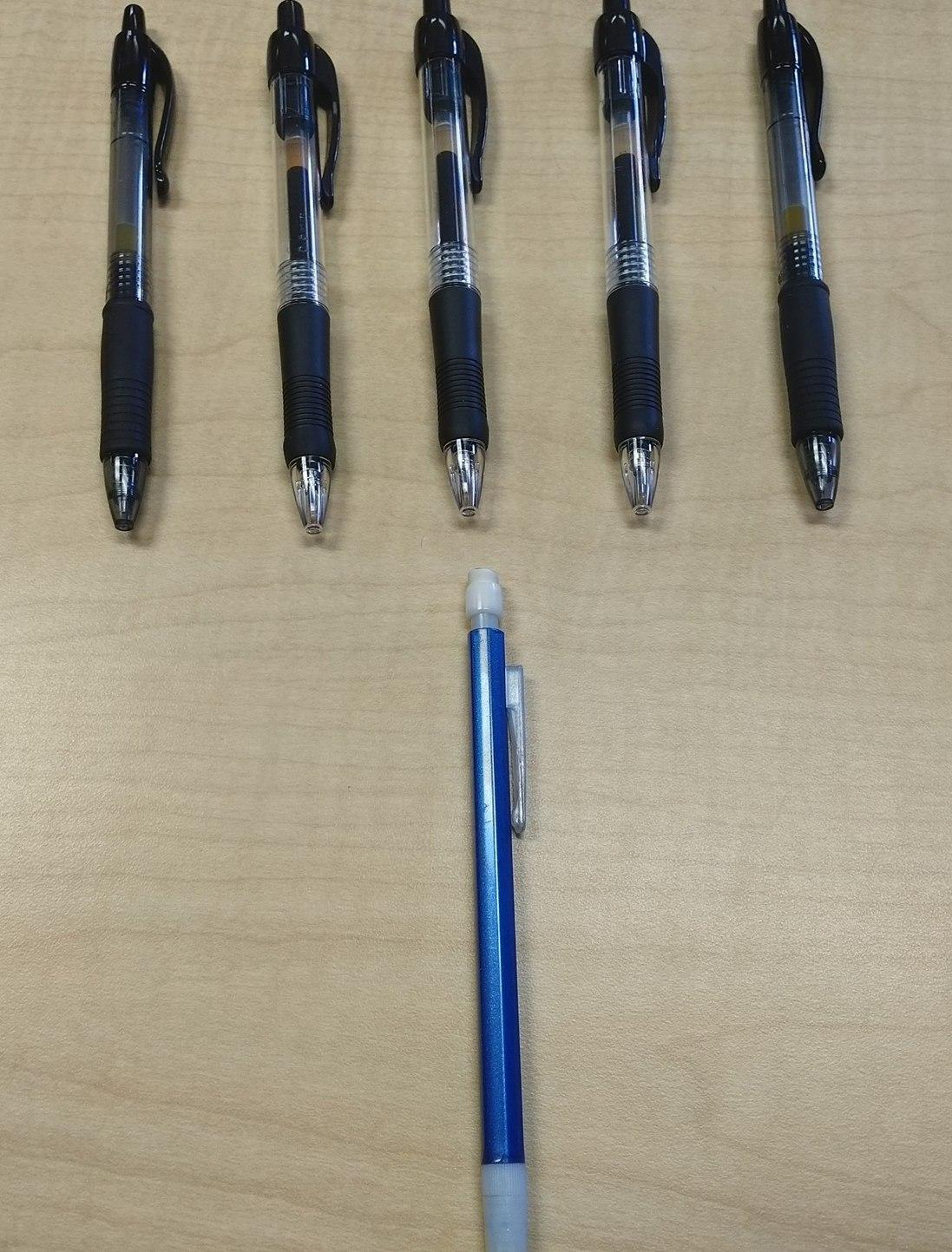 Five black pens - meme