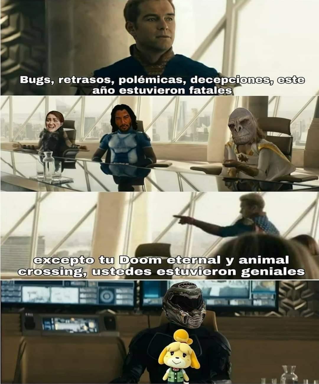 Doom Eternal y Animal Crossing - meme