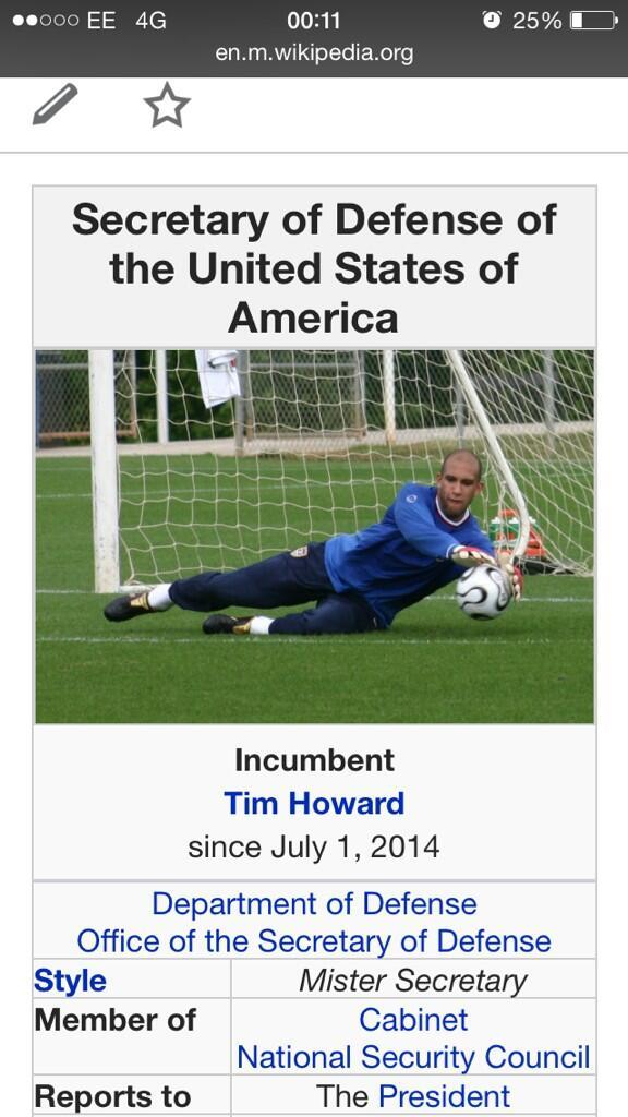 Tim Howard should have his own state - meme