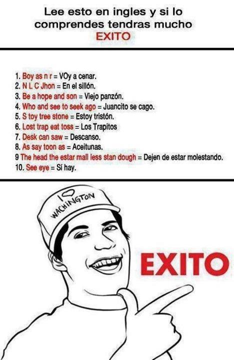 Ingles perfect. SIGUEME Y TE SIGO. - meme